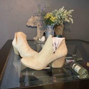 Ivory heeled booties